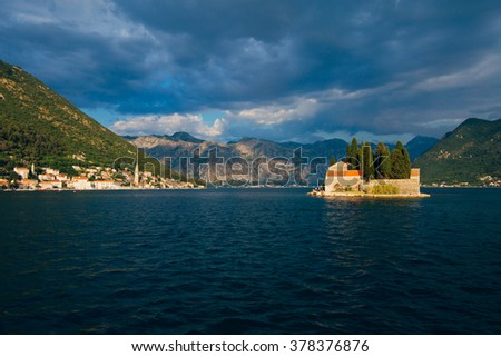 The islands in Perast, Montenegro