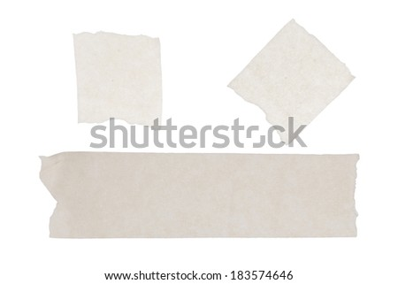 the isolated of masking tape sticky on white paper background - stock photo