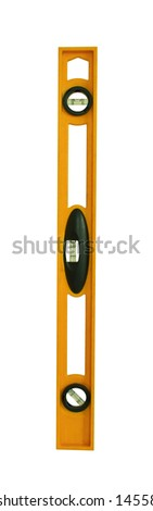 the isolated of water level measurement - stock photo