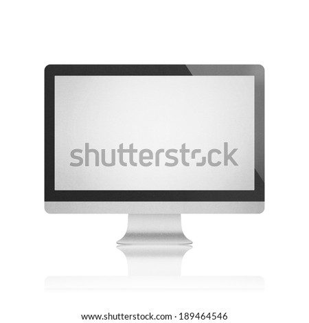 the isolated paper cut of computer monitor with led flat screen is modern display technology for pc equipment