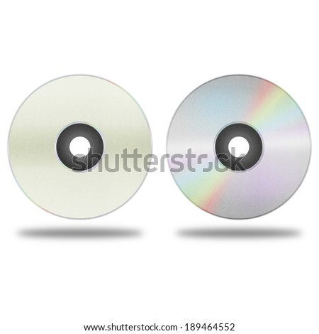 the isolated paper cut of disc cd, dvd, blue-ray disk is record data technology for digital media in computer