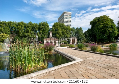 The Italian Gardens at Hyde Park in London, UK - stock photo