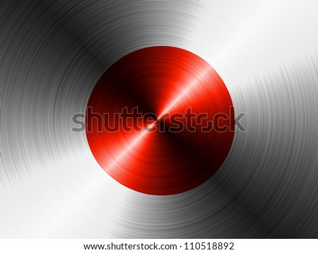 The Japan flag painted on brushed metall