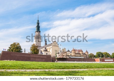 The Jasna Gora sanctuary in Czestochowa, one of the most popular religious places in Poland - stock photo