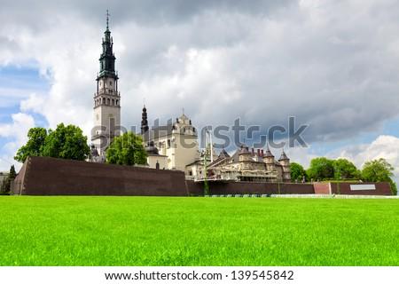 The Jasna Gora sanctuary in Czestochowa, Poland is most important pilgrimage place - stock photo
