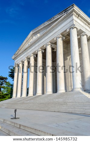 The Jefferson Memorial in Washington DC in daylight - stock photo