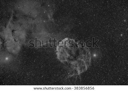 The Jellyfish Nebula, a Huge Supernova remnant in Auriga - stock photo