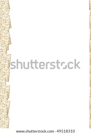 The Jewish Matzo Flatbread for Passover Seder pattern with white background - stock photo