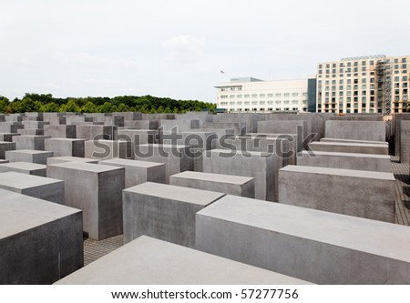 The jewish memorial in central berlin, germany - stock photo