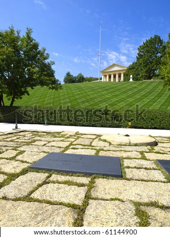 The John F. Kennedy Eternal Flame Memorial - stock photo