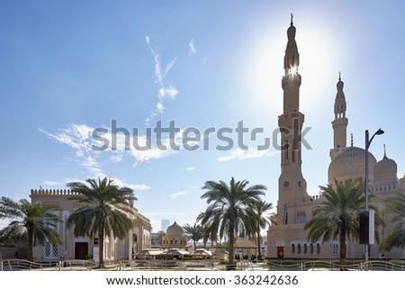 The Jumeirah Mosque, Dubai, United Arab Emirates - stock photo
