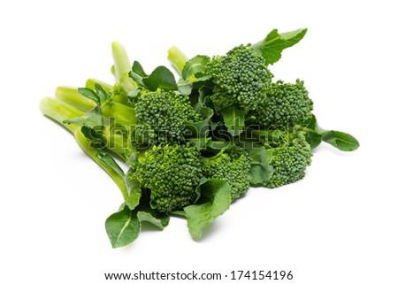 The kale vegetable isolated on white background - stock photo
