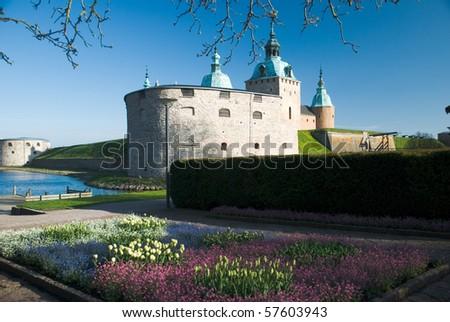 The Kalmar castle (Kalmar slott), the province of Smaland in Sweden - stock photo