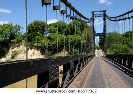 The Kamoro bridge on the road of Majunga - stock photo