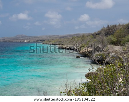 The Karpata coastline of Bonaire Dutch Antilles Caribbean