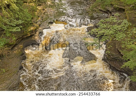 The Kettles on the Presque Isle River in Michigan - stock photo