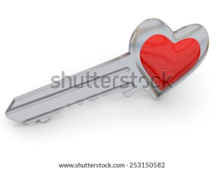 The Key of the Heart - stock photo