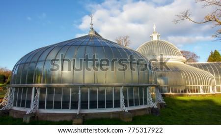 The Kibble Palace Glasshouse Of Glasgow Botanic Gardens.