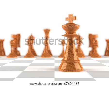 The king chess piece in-focus - stock photo