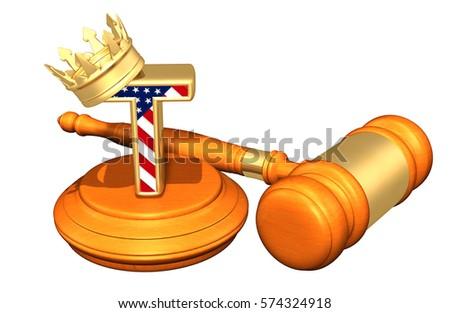 King America V Judicial Branch Legal Stock Illustration 574324918