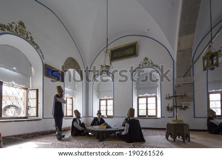 The kitchen of the Dervishes (Matbah) located in Mevlana Museum, Konya - Turkey