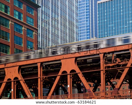 The 'L' Speed Train, Chicago - stock photo