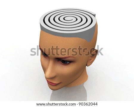 the labyrinth in the head - stock photo