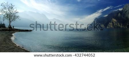 The Lago Di Garda, Italy. - stock photo