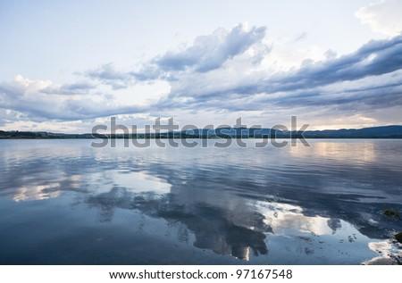 the lake - stock photo