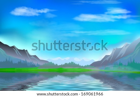 The Lake in the Mountains
