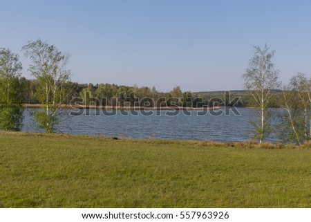 the lake Steinberger See next to Schwandorf in Bavaria in Spring