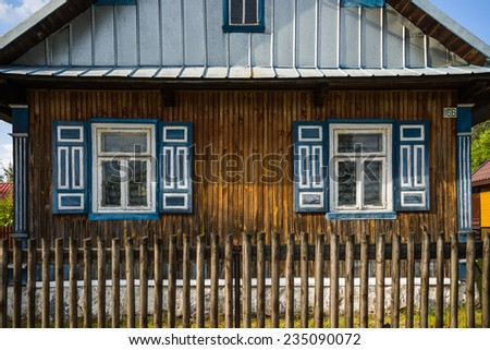 The land of open shutters. Soce, Puchly, Trzescianka, Poland Podlaskie voivodeship Poland, in north-eastern Poland