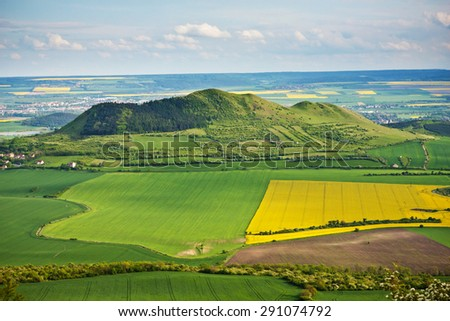 the landscape of Czech Central Range - Czechische Republic - Europe - stock photo