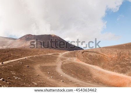 The landscape of Mount Etna, Sicily, Italy