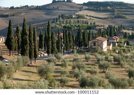 The landscape of the  Tuscany. Italy - stock photo