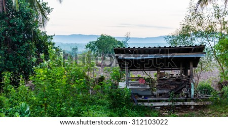 The landscape view of bald mountain or grass mountain in Phitsanulok, northern Thailand - stock photo