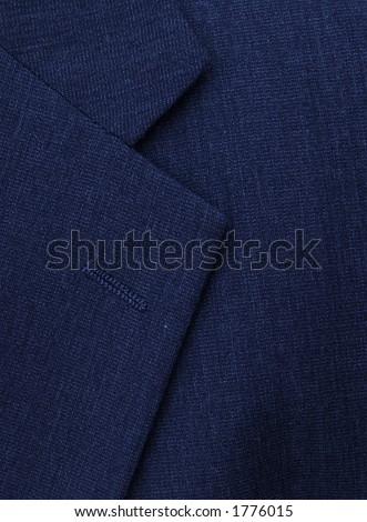 the lapel on a businessman's suit - stock photo