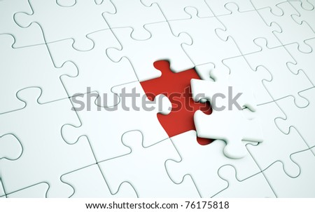 The last piece of a jigsaw puzzle
