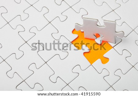 The last piece of the puzzle - stock photo
