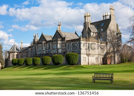 The Lauriston Castle From Edinburgh, Scotland - stock photo