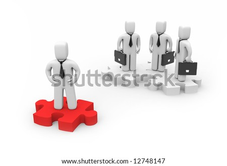 The Leader. Business concept - stock photo