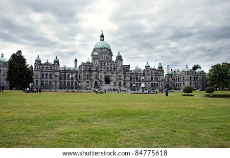 The Legislative Assembly of British Columbia in Victoria city - stock photo
