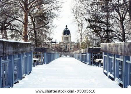 The Legislative Assembly of Saskatchewan in Regina city - stock photo