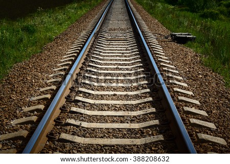 The length of the railway track