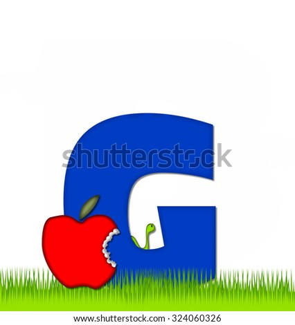 letter c alphabet set apple day stock illustration 324060476