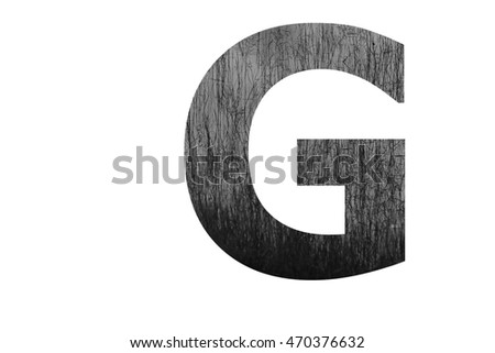 "The letter ""G"" with plantation swamp (black and white) insided"