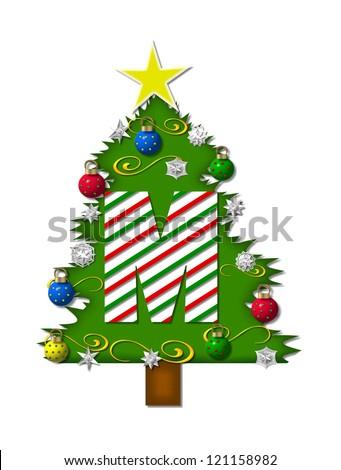 Christmas Letter M Tree Stock Photos, Christmas Letter M Tree Stock ...