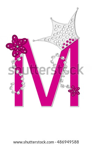 Letter m alphabet set pageant queen stock illustration 486949588 the letter m in the alphabet set pageant queen is bright pink and thecheapjerseys Image collections
