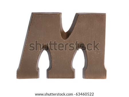 The letter M, special candy for the Sinterklaas celebration - stock photo