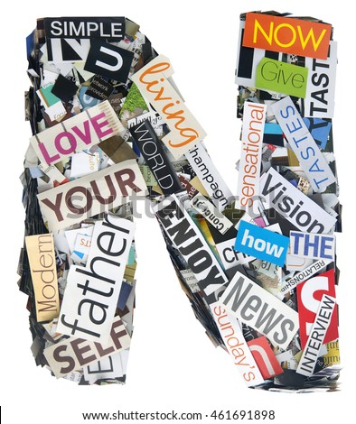 Letter n made random cut out stock photo 461691898 shutterstock the letter n made random cut out words publicscrutiny Choice Image